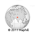 """Outline Map of the Area around 30° 42' 29"""" N, 74° 52' 30"""" E, rectangular outline"""