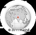 Outline Map of Ludhiāna, rectangular outline