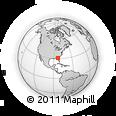 Outline Map of Avoca, rectangular outline