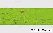 Physical Panoramic Map of Avoca