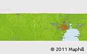 """Physical Panoramic Map of the area around 30°42'29""""N,88°19'29""""W"""