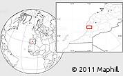 Blank Location Map of Taroudannt