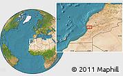 Satellite Location Map of Taroudannt