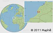 Savanna Style Location Map of Taroudannt
