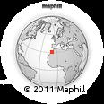 Outline Map of Taroudannt, rectangular outline
