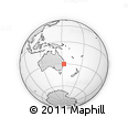 Outline Map of Bellingen, rectangular outline