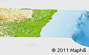 """Physical Panoramic Map of the area around 30°23'20""""S,153°4'29""""E"""