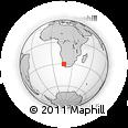 Outline Map of Koingnaas, rectangular outline