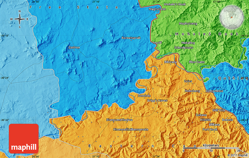 Orange River On Map Political Map of Orang...