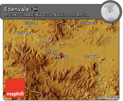 Free Physical Map of Edenvale