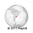 Outline Map of State of Rio Grande Do Sul, rectangular outline