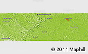 """Physical Panoramic Map of the area around 30°23'20""""S,55°10'29""""W"""