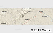 """Shaded Relief Panoramic Map of the area around 30°23'20""""S,55°10'29""""W"""