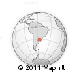 Outline Map of Norberto Martins, rectangular outline