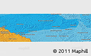 """Political Panoramic Map of the area around 30°23'20""""S,56°1'29""""W"""