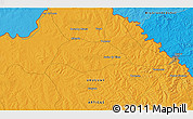 Political 3D Map of Artigas
