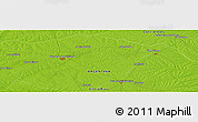 """Physical Panoramic Map of the area around 30°23'20""""S,58°34'30""""W"""
