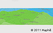 """Political Panoramic Map of the area around 30°23'20""""S,58°34'30""""W"""