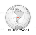 Outline Map of Ischilín, rectangular outline
