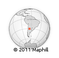 Outline Map of El Alto, rectangular outline