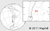"""Blank Location Map of the area around 30°23'20""""S,67°55'30""""W"""