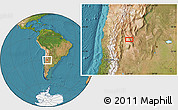 "Satellite Location Map of the area around 30°23'20""S,67°55'30""W"