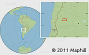 "Savanna Style Location Map of the area around 30°23'20""S,67°55'30""W"