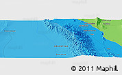 """Political Panoramic Map of the area around 30°23'20""""S,67°55'30""""W"""