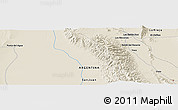 """Shaded Relief Panoramic Map of the area around 30°23'20""""S,67°55'30""""W"""
