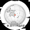 Outline Map of Rosebank, rectangular outline