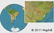 "Satellite Location Map of the area around 30°52'1""S,55°10'29""W"