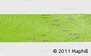 Physical Panoramic Map of Tres Cerros