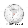 Outline Map of Palomas, rectangular outline