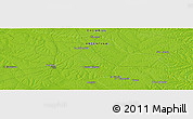 "Physical Panoramic Map of the area around 30° 52' 1"" S, 58° 34' 30"" W"