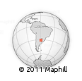 """Outline Map of the Area around 30° 52' 1"""" S, 59° 25' 29"""" W, rectangular outline"""