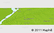 """Physical Panoramic Map of the area around 30°52'1""""S,59°25'29""""W"""