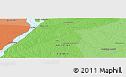 """Political Panoramic Map of the area around 30°52'1""""S,59°25'29""""W"""