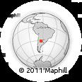 Outline Map of Villa Cerro Azul, rectangular outline