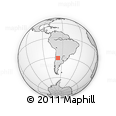 Outline Map of El Chañar, rectangular outline