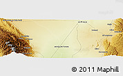 Physical Panoramic Map of El Chañar