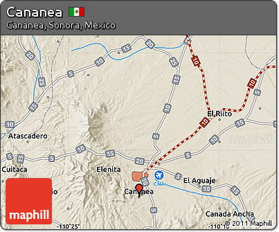 Cananea Mexico Map.Free Shaded Relief Map Of Cananea