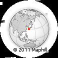 Outline Map of Makurazaki, rectangular outline