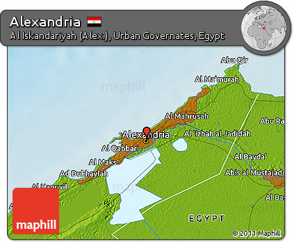 Free Physical 3D Map of Alexandria