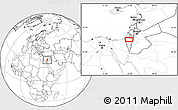 """Blank Location Map of the area around 31°11'6""""N,34°55'29""""E"""