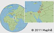 "Savanna Style Location Map of the area around 31°11'6""N,34°55'29""E"
