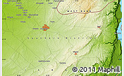 """Physical Map of the area around 31°11'6""""N,34°55'29""""E"""