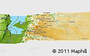 Physical Panoramic Map of Al Karak