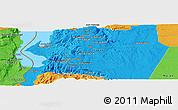 Political Panoramic Map of Al Karak