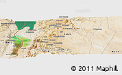 Satellite Panoramic Map of Al Karak