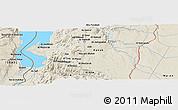 Shaded Relief Panoramic Map of Al Karak
